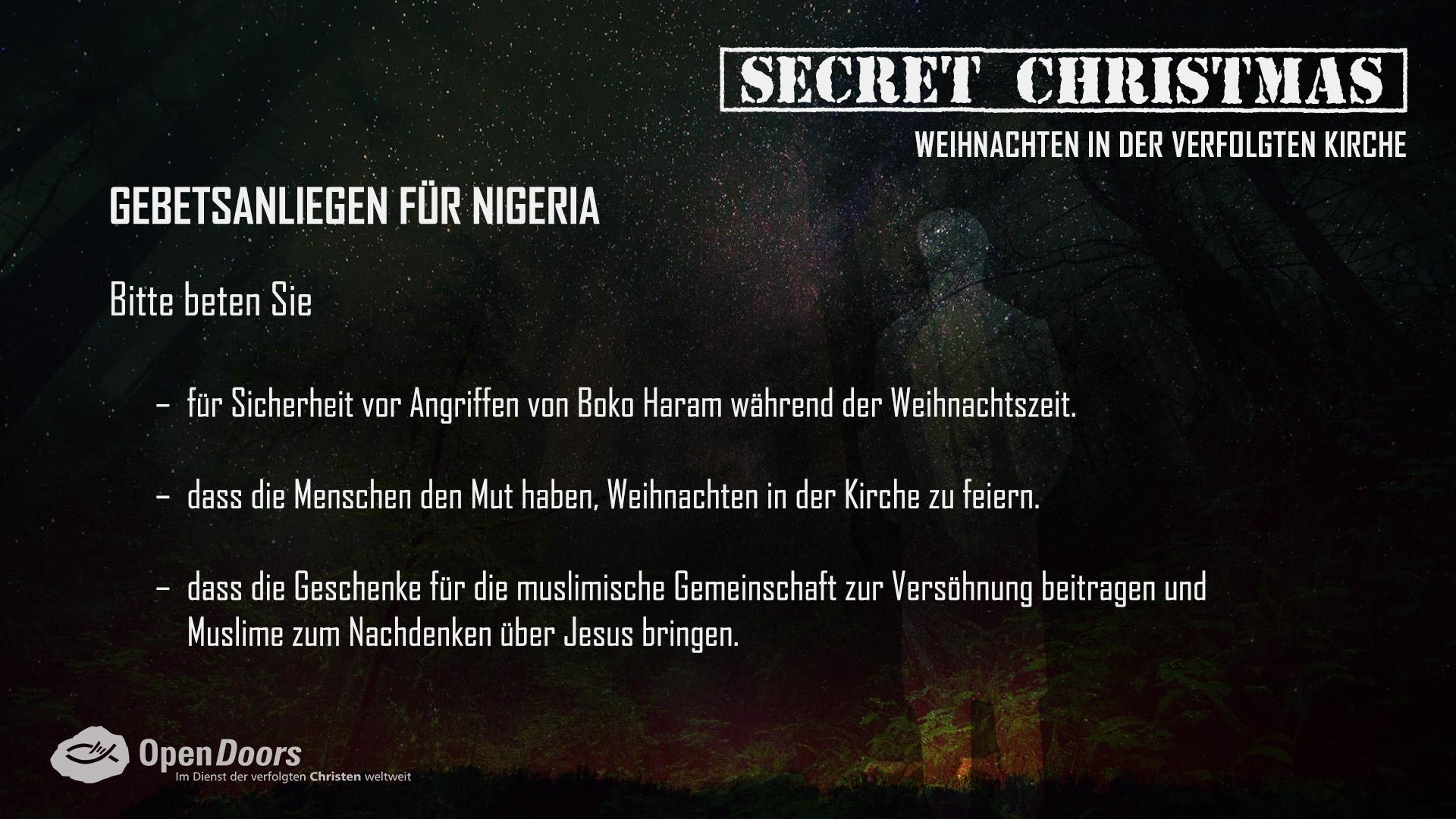 secret christmas 1 advent open doors deutschland e v. Black Bedroom Furniture Sets. Home Design Ideas