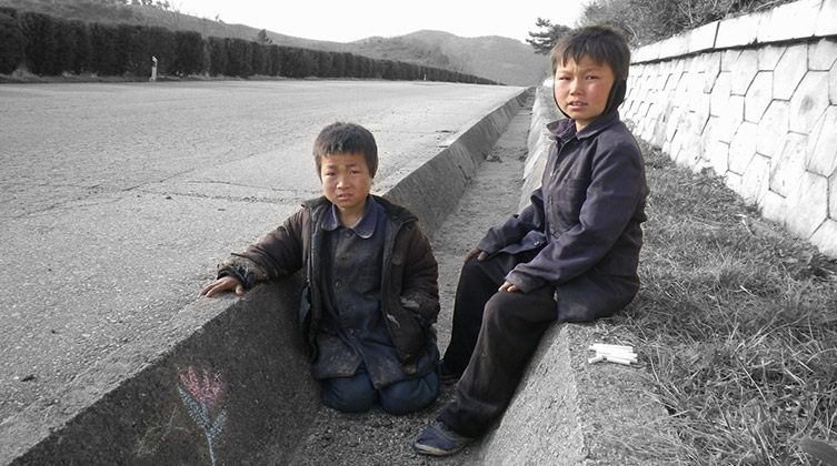 Straßenkinder in Nordkorea