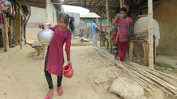 Kinder in einem Rohingya-Flüchtlingslager