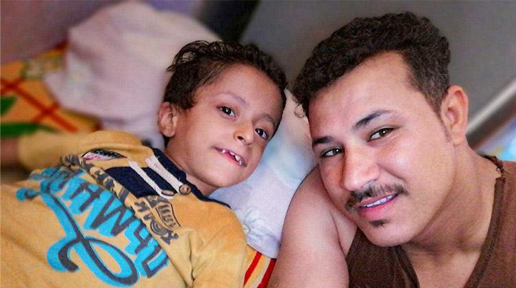Der kleine Samer mit seinem Vater Mark in gemeinsamen Tagen
