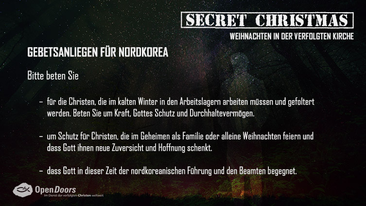 Secret Christmas. 3. Advent – Gebetsanliegen