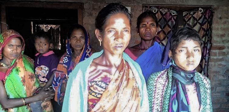 Christen aus Tangaguda, die von hinduistischen Dorfbewohnern angegriffen wurden