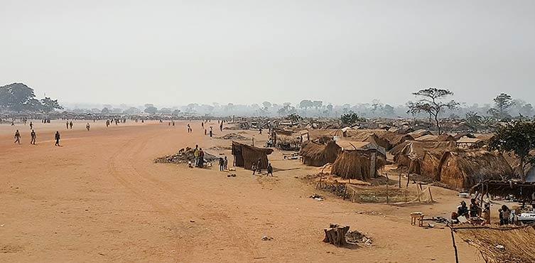 Flüchtlingslager im Osten der Zentralafrikanischen Republik
